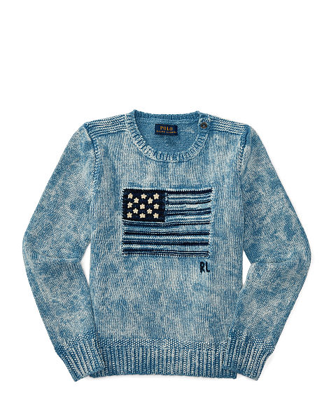 FLAG COMBED COTTON SWEATER